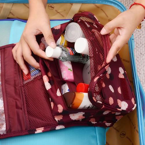 Дорожный органайзер Monopoly toiletry pouch. Бордовый в цветочки. УЦЕНКА  в  Интернет-магазин Zelenaya Vorona™ 2
