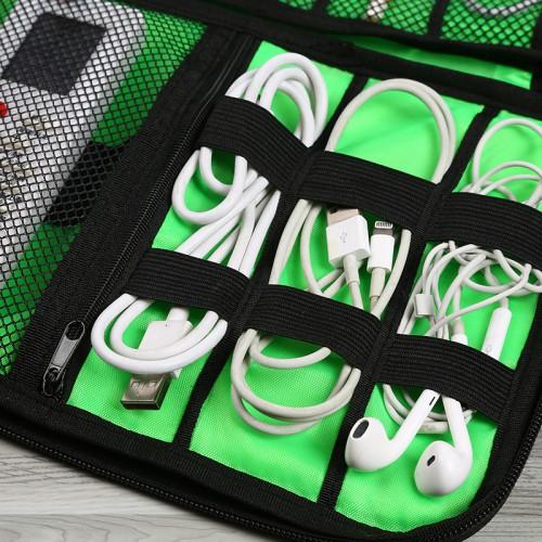 Дорожный органайзер для зарядок, проводов и кабелей. Серый  в  Интернет-магазин Zelenaya Vorona™ 5