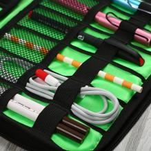 Дорожный органайзер для зарядок, проводов и кабелей. Камуфляж