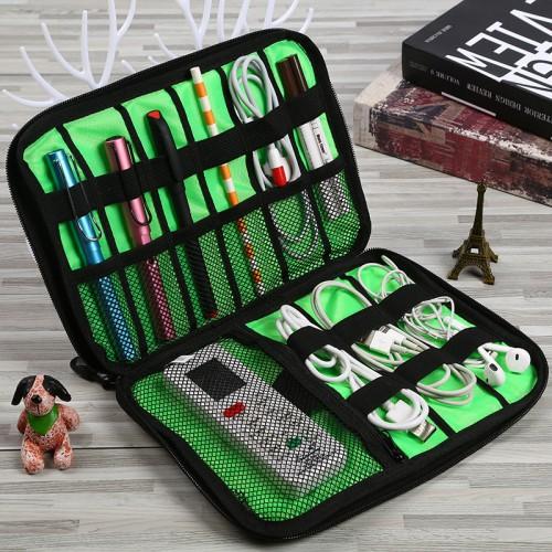 Дорожный органайзер для зарядок, проводов и кабелей. Серый  в  Интернет-магазин Zelenaya Vorona™ 1