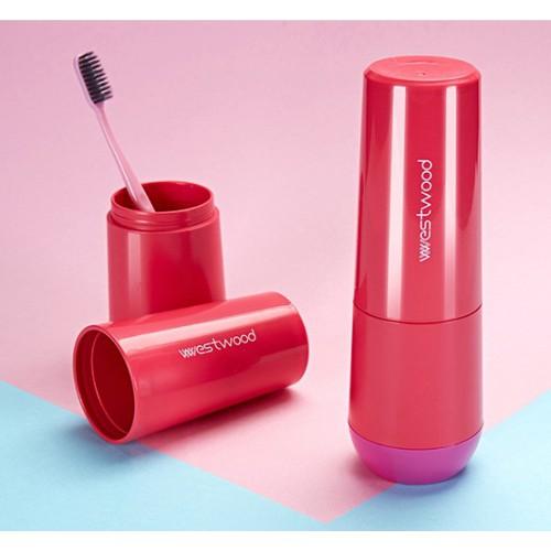 Travel чашка Westwood для зубной пасты и щетки. Темно-розовая  в  Интернет-магазин Zelenaya Vorona™ 2