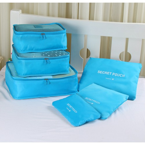 Покупка  Набор дорожных органайзеров Secret Pouch. Голубой в  Интернет-магазин Zelenaya Vorona™
