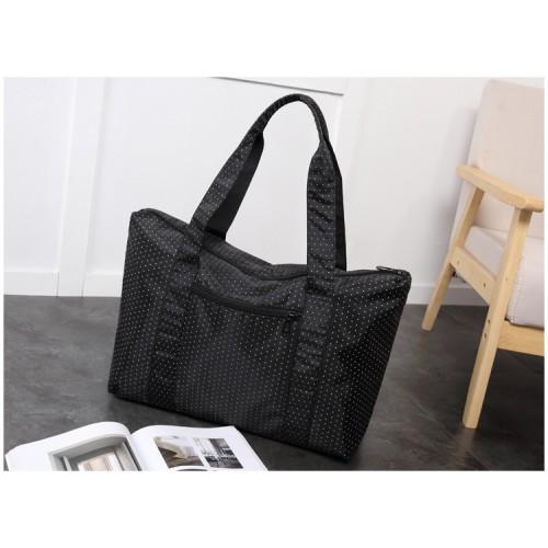 Женская дорожная сумка с креплением на ручку чемодана. Черная в горох  в  Интернет-магазин Zelenaya Vorona™ 4