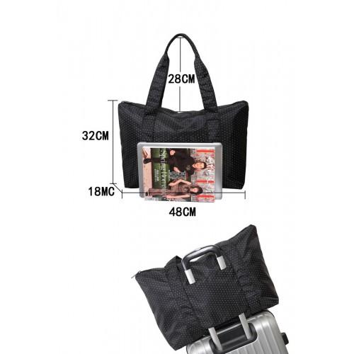 Женская дорожная сумка с креплением на ручку чемодана. Черная в горох  в  Интернет-магазин Zelenaya Vorona™ 6