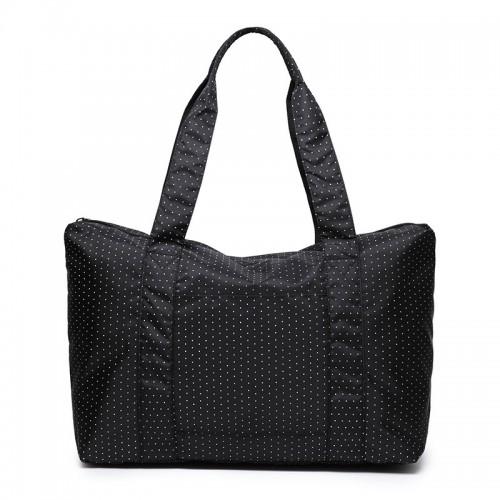 Покупка  Женская дорожная сумка с креплением на ручку чемодана. Черная в горох в  Интернет-магазин Zelenaya Vorona™