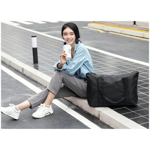 Женская дорожная сумка с креплением на ручку чемодана. Черная в горох  в  Интернет-магазин Zelenaya Vorona™ 2