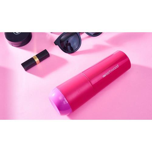 Travel чашка Westwood для зубной пасты и щетки. Темно-розовая  в  Интернет-магазин Zelenaya Vorona™ 3