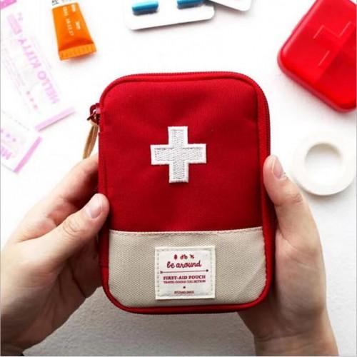Мини аптечка органайзер для путешествий. Красная  в  Интернет-магазин Zelenaya Vorona™ 1