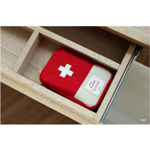 Мини аптечка органайзер для путешествий. Красная  в  Интернет-магазин Zelenaya Vorona™ 3