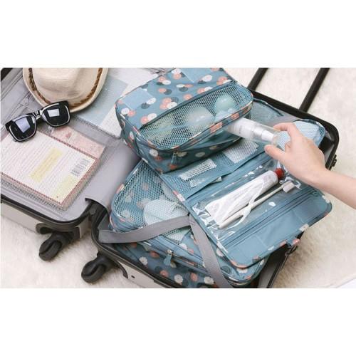 Дорожный органайзер Monopoly toiletry pouch. Голубой в цветочки УЦЕНКА  в  Интернет-магазин Zelenaya Vorona™ 2