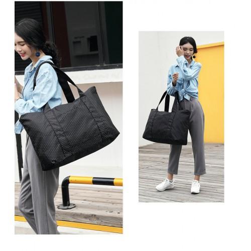 Женская дорожная сумка с креплением на ручку чемодана. Черная в горох  в  Интернет-магазин Zelenaya Vorona™ 3