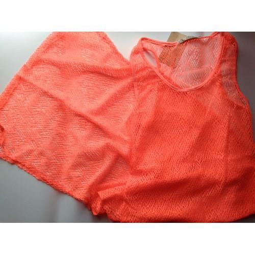 Пляжная туника в пол. Розовый закат  в  Интернет-магазин Zelenaya Vorona™ 1