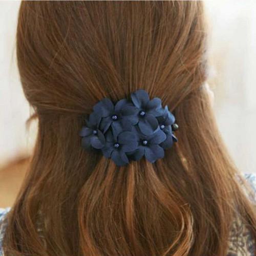 Покупка  Заколка для волос с цветами Blue flowers в  Интернет-магазин Zelenaya Vorona™
