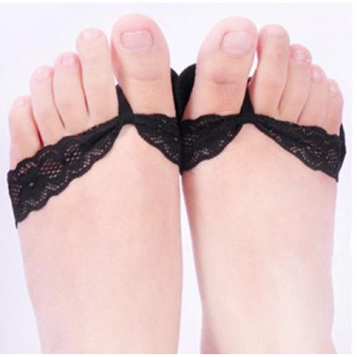 Ажурные нескользящие вкладыши для летней обуви и высоких каблуков. Черный  в  Интернет-магазин Zelenaya Vorona™ 1