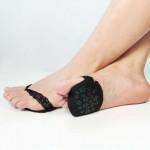 Ажурные нескользящие вкладыши для летней обуви и высоких каблуков. Черный