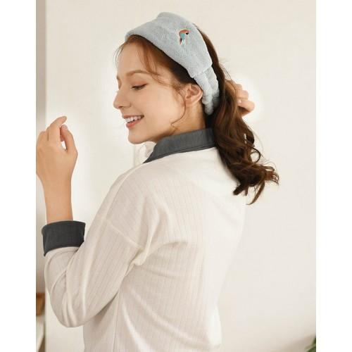 Флисовая косметическая повязка на голову с вышивкой  в  Интернет-магазин Zelenaya Vorona™ 1