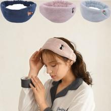 Флисовая косметическая повязка на голову с вышивкой
