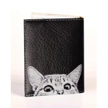 Визитница для карточек Любопытный котик