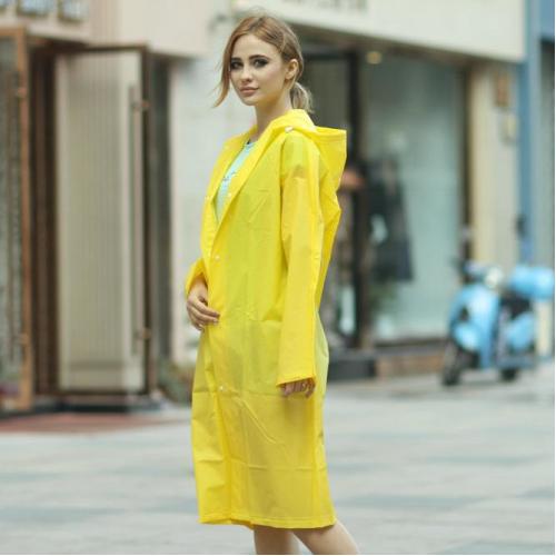 Плащ-дождевик EVA Raincoat Унисекс. Желтый  в  Интернет-магазин Zelenaya Vorona™ 1