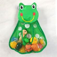 Органайзер в ванную для игрушек на присосках Лягушонок