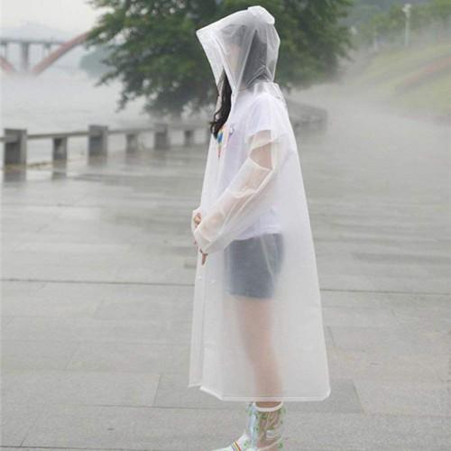 Плащ-дождевик EVA Raincoat Унисекс. Белый  в  Интернет-магазин Zelenaya Vorona™ 3