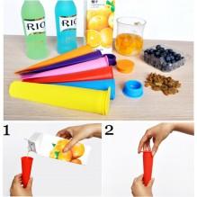 Силиконовые формы для мороженого и замороженного сока. 4 шт./наб.