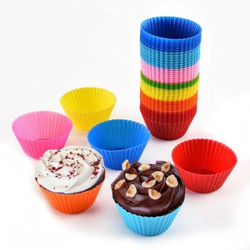 Покупка  Формочки силиконовые для кексов 7х7х3см ( 12шт) в  Интернет-магазин Zelenaya Vorona™