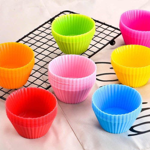 Формочки силиконовые для кексов 7х7х3см ( 12шт)  в  Интернет-магазин Zelenaya Vorona™ 1