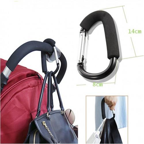 Покупка  Держатель-карабин для сумок на коляску в  Интернет-магазин Zelenaya Vorona™