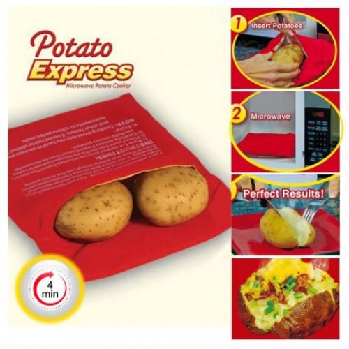 Мешочек для запекания картофеля Potato Express  в  Интернет-магазин Zelenaya Vorona™ 1
