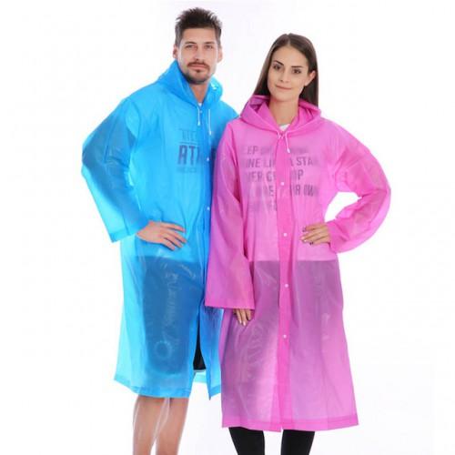 Покупка  Плащ-дождевик EVA Raincoat Унисекс. Розовый в  Интернет-магазин Zelenaya Vorona™