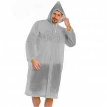 Плащ-дождевик EVA Raincoat Унисекс. Серый