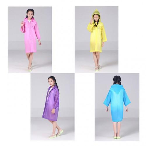 Плащ-дождевик детский EVA Raincoat. Универсальный размер (6-12 лет)  в  Интернет-магазин Zelenaya Vorona™ 5