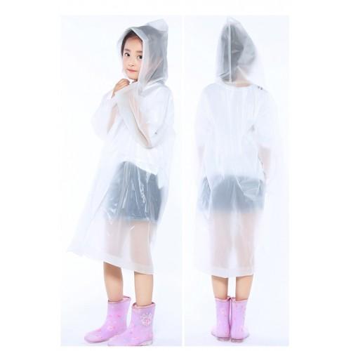 Плащ-дождевик детский EVA Raincoat. Универсальный размер (6-12 лет)  в  Интернет-магазин Zelenaya Vorona™ 4
