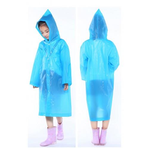 Плащ-дождевик детский EVA Raincoat. Универсальный размер (6-12 лет)  в  Интернет-магазин Zelenaya Vorona™ 3