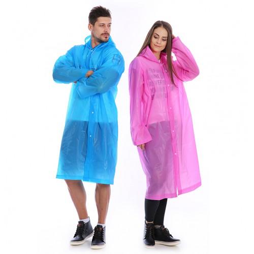 Плащ-дождевик EVA Raincoat Унисекс. Розовый  в  Интернет-магазин Zelenaya Vorona™ 1