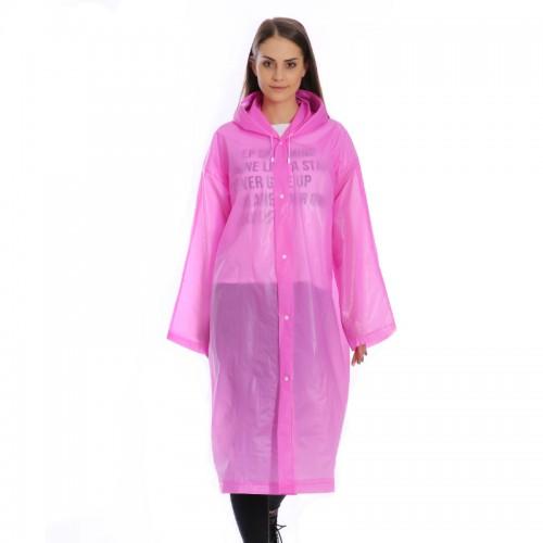 Плащ-дождевик EVA Raincoat Унисекс. Розовый  в  Интернет-магазин Zelenaya Vorona™ 2