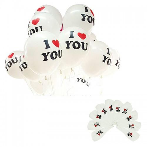 Воздушные шары с надписью I LOVE YOU (10 шт.)  в  Интернет-магазин Zelenaya Vorona™ 1