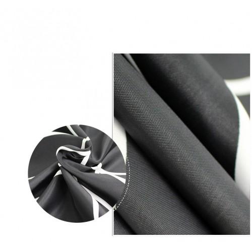Черно-белая шторка для ванной и душа Black & white  в  Интернет-магазин Zelenaya Vorona™ 2