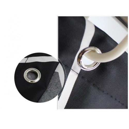Черно-белая шторка для ванной и душа Black & white  в  Интернет-магазин Zelenaya Vorona™ 3