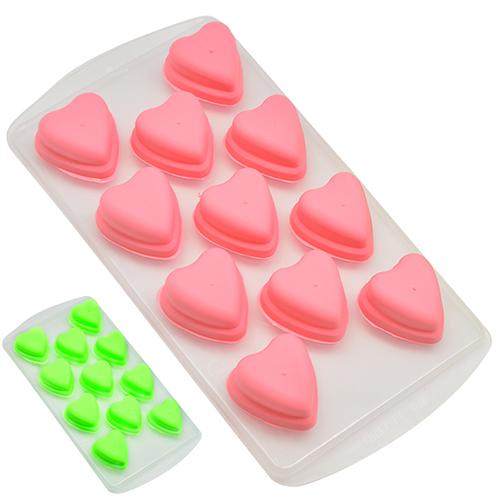 Покупка  Силиконовая форма для льда Сердечки в  Интернет-магазин Zelenaya Vorona™