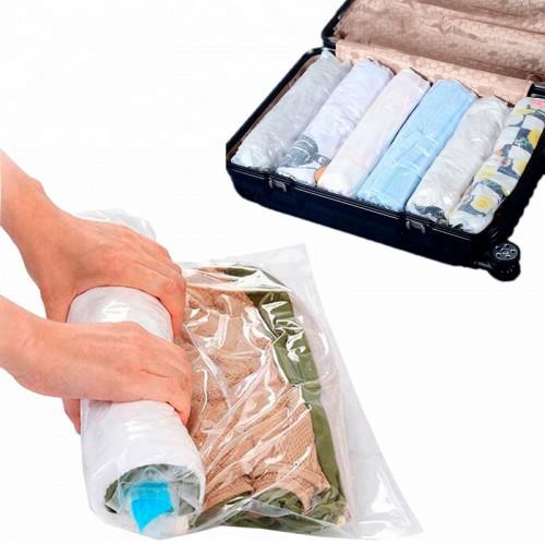 Покупка  Вакуумный пакет скручивающийся дорожный 35х50 см  в  Интернет-магазин Zelenaya Vorona™