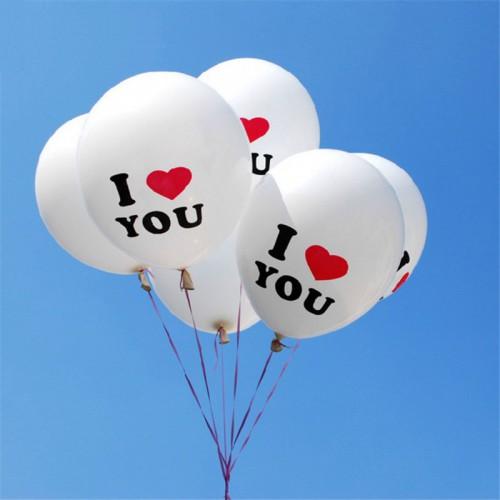 Покупка  Воздушные шары с надписью I LOVE YOU (10 шт.) в  Интернет-магазин Zelenaya Vorona™