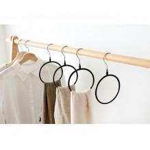 Вешалка-кольцо для шарфов, палантинов и платков. Черный