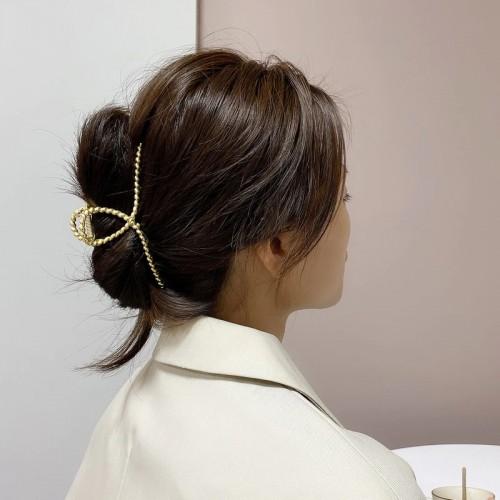Покупка  Металлический зажим для волос, заколка-краб Плетенная петелька в  Интернет-магазин Zelenaya Vorona™