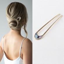 Элегантная заколка -шпилька для пучка волос Искушение