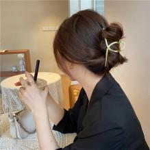 Металлический зажим для волос, заколка-краб Классическая