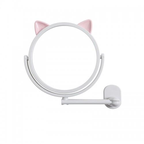 Покупка  Настенное поворотное косметическое зеркало для ванной с ушками. Белый (УЦЕНКА) в  Интернет-магазин Zelenaya Vorona™
