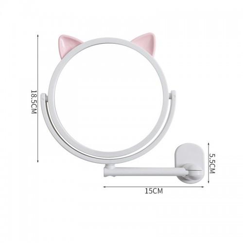 Настенное поворотное косметическое зеркало для ванной с ушками. Белый (УЦЕНКА)  в  Интернет-магазин Zelenaya Vorona™ 6