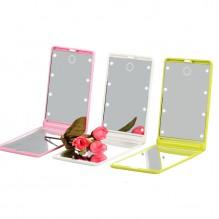 Складное зеркало для макияжа с подсветкой LED Travel Mirror. Зеленый